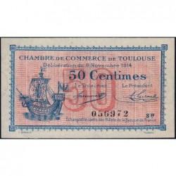 Toulouse - Pirot 122-08 variété - Série IV - 50 centimes - 06/11/1914 - Etat : SUP+
