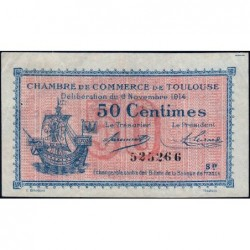 Toulouse - Pirot 122-08 - Série IV - 50 centimes - 06/11/1914 - Etat : TB+