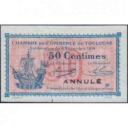 Toulouse - Pirot 122-09 - Série 2 - 50 centimes - Annulé - 06/11/1914 - Etat : SUP+