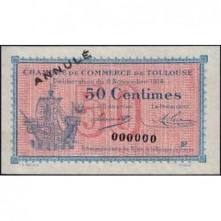 Toulouse - Pirot 122-10 - Série 2 - 50 centimes - Annulé - 06/11/1914 - Etat : SPL