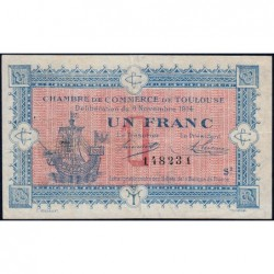 Toulouse - Pirot 122-14 variété - 1 franc - Série 2 - 06/11/1914 - Etat : TTB