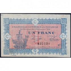Toulouse - Pirot 122-14 - Série 2 - 1 franc - 06/11/1914 - Etat : TB+