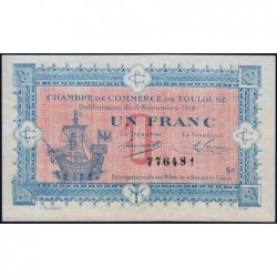 Toulouse - Pirot 122-14 - 1 franc - Série III - 06/11/1914 - Etat : SUP+