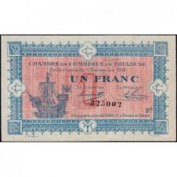 Toulouse - Pirot 122-14 variété - Série IV - 1 franc - 06/11/1914 - Etat : SUP
