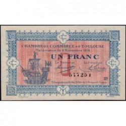 Toulouse - Pirot 122-14 variété - 1 franc - Série 5 - 06/11/1914 - Etat : SUP+