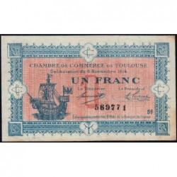 Toulouse - Pirot 122-20 variété - Série 6 - 1 franc - 06/11/1914 - Etat : SUP