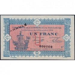 Toulouse - Pirot 122-15 - Série 2 - 1 franc - Annulé - 06/11/1914 - Etat : pr.NEUF
