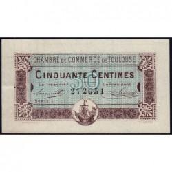 Toulouse - Pirot 122-22 variété - Série 1 - 50 centimes - 20/06/1917 - Etat : SUP+