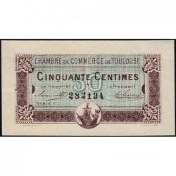 Toulouse - Pirot 122-22 - Série 1 - 50 centimes - 20/06/1917 - Etat : SUP+