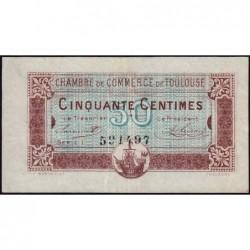 Toulouse - Pirot 122-22 - 50 centimes - Série 1 - 20/06/1917 - Etat : TTB+