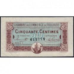 Toulouse - Pirot 122-22 variété - Série 1 - 50 centimes - 20/06/1917 - Etat : SUP