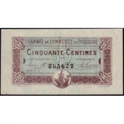 Toulouse - Pirot 122-22 variété - Série 2 - 50 centimes - 20/06/1917 - Etat : SUP+
