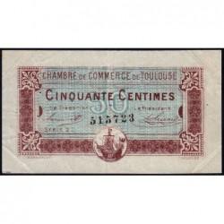 Toulouse - Pirot 122-22 - Série 2 - 50 centimes - 20/06/1917 - Etat : TTB