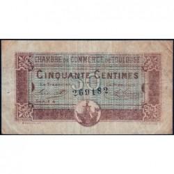 Toulouse - Pirot 122-22 - 50 centimes - Série 4 - 20/06/1917 - Etat : TB