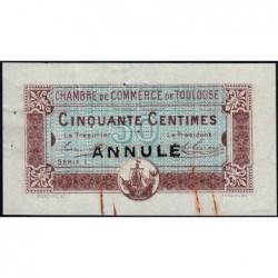 Toulouse - Pirot 122-23 - 50 centimes - Série 1 - 20/06/1917 - Annulé - Etat : TTB+