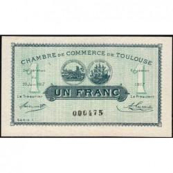 Toulouse - Pirot 122-27 - Série 1 - 1 franc - 20/06/1917 - Etat : SUP