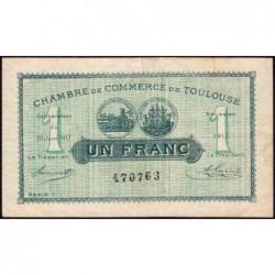 Toulouse - Pirot 122-27 - Série 1 - 1 franc - 20/06/1917 - Etat : TB+