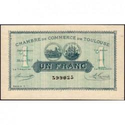 Toulouse - Pirot 122-27 - Série 1 - 1 franc - 20/06/1917 - Etat : SUP+