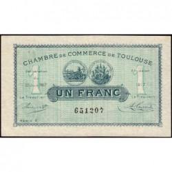Toulouse - Pirot 122-27 - Série 2 - 1 franc - 20/06/1917 - Etat : TTB