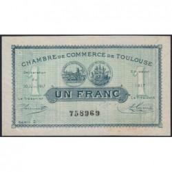 Toulouse - Pirot 122-27 variété - Série 2 - 1 franc - 20/06/1917 - Etat : TTB+