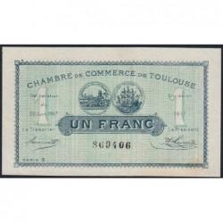 Toulouse - Pirot 122-27 - 1 franc - Série 3 - 20/06/1917 - Etat : SUP+