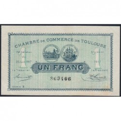 Toulouse - Pirot 122-27 - Série 3 - 1 franc - 20/06/1917 - Etat : SUP+