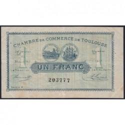 Toulouse - Pirot 122-27 - Série 4 - 1 franc - 20/06/1917 - Etat : TB+