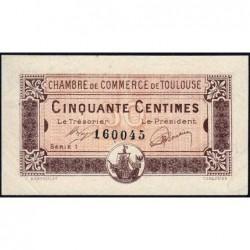 Toulouse - Pirot 122-34 variété - Série 1 - 50 centimes - 19/11/1919 - Etat : SUP+
