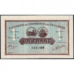 Toulouse - Pirot 122-36a variété - Série 1 - 1 franc - 19/11/1919 - Etat : SUP+