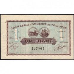 Toulouse - Pirot 122-36a variété - Série 1 - 1 franc - 19/11/1919 - Etat : TTB+
