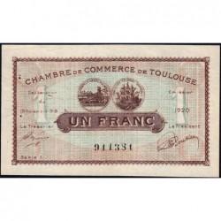 Toulouse - Pirot 122-36b - Série 1 - 1 franc - 19/11/1919 - Etat : SUP