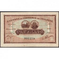 Toulouse - Pirot 122-36b - 1 franc - Série 1 - 19/11/1919 - Etat : SUP+
