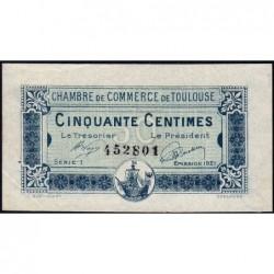 Toulouse - Pirot 122-39 - Série 1 - 50 centimes - 13/10/1920 - Etat : SUP+