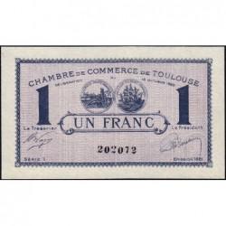 Toulouse - Pirot 122-41 - Série 1 - 1 franc - 13/10/1920 - Etat : SUP+