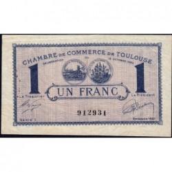 Toulouse - Pirot 122-41 - Série 1 - 1 franc - 13/10/1920 - Etat : TTB