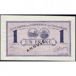 Toulouse - Pirot 122-42 - 1 franc - Série 1 - 13/10/1920 - Annulé - Etat : SUP