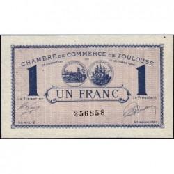 Toulouse - Pirot 122-43 variété - 1 franc - Série 2 - 13/10/1920 - Etat : SUP