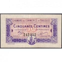 Toulouse - Pirot 122-44 variété - 50 centimes - Série 1 - 13/10/1920 - Etat : TTB