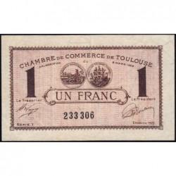 Toulouse - Pirot 122-45 variété - Série 1 - 1 franc - 13/10/1920 - Etat : TTB+