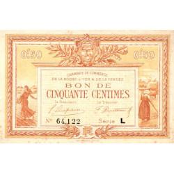 La Roche-sur-Yon (Vendée) - Pirot 65-31 - 50 centimes - Série L - 1922 - Etat : TTB+