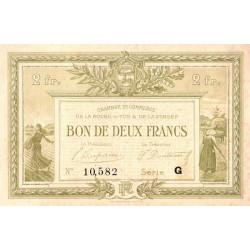 La Roche-sur-Yon (Vendée) - Pirot 65-35 - 2 francs - Série G - 1922 - Etat : TTB+