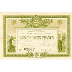 La Roche-sur-Yon (Vendée) - Pirot 65-10-A - 2 francs - 1915 - Etat : TTB