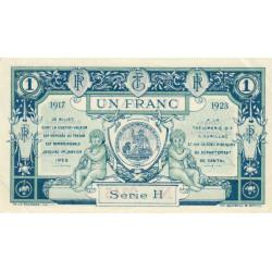 Aurillac (Cantal) - Pirot 16-13 variété - 1 franc - Série H - 1917 - Etat : SPL