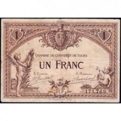 Tours - Pirot 123-1 - 1 franc - 01/05/1915 - Etat : TB