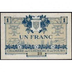 Tours - Pirot 123-4 - 1 franc - 08/05/1920 - Petit numéro - Etat : SUP+