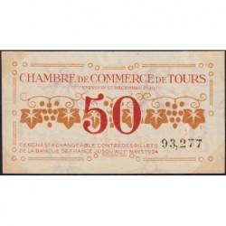 Tours - Pirot 123-6 - 50 centimes - 27/12/1920 - Etat : SUP+
