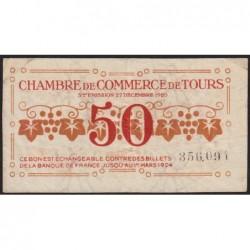 Tours - Pirot 123-6 - 50 centimes - 27/12/1920 - Etat : TTB