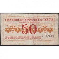 Tours - Pirot 123-6 - 50 centimes - 27/12/1920 - Etat : TB-