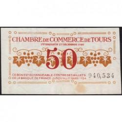 Tours - Pirot 123-6 - 50 centimes - 27/12/1920 - Etat : SUP