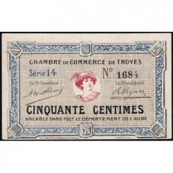 Troyes - Pirot 124-1 - 50 centimes - Série 14 - Sans date - Etat : NEUF